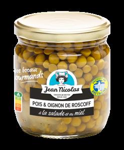 conserve Pois & oignon de Roscoff à la salade et au miel